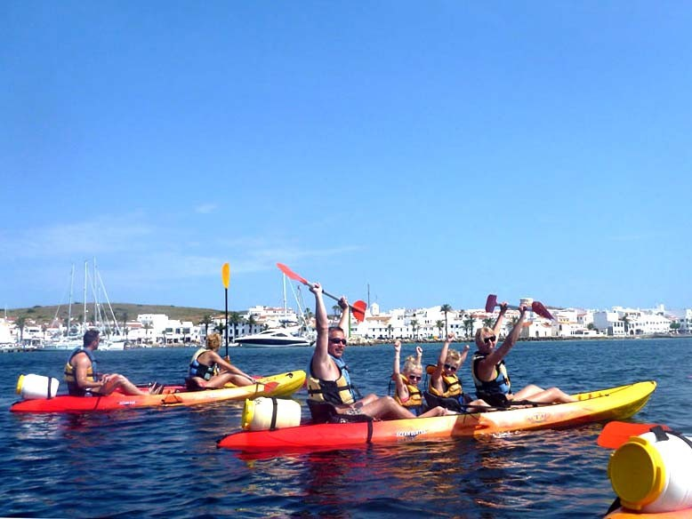 Kayak excursion Fornells half day