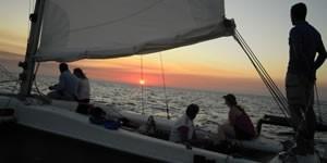 Sailing trip at sunset Minorca