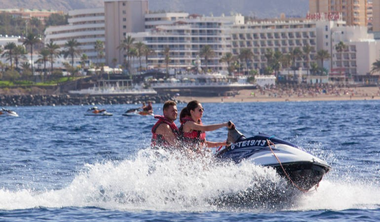Jet Ski fun in Tenerife