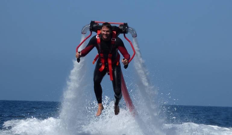The trend sport: flyboard