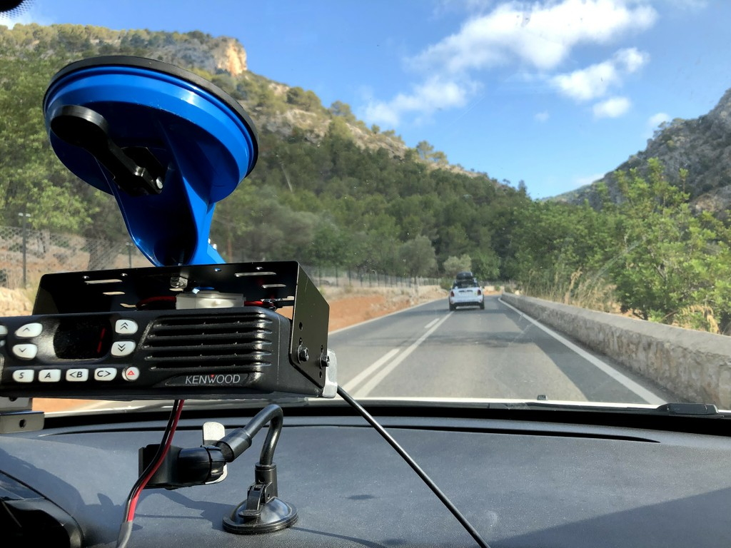 Portable radio devices in each car