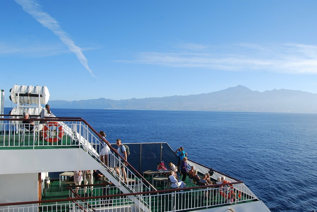 En barco a Tenerife