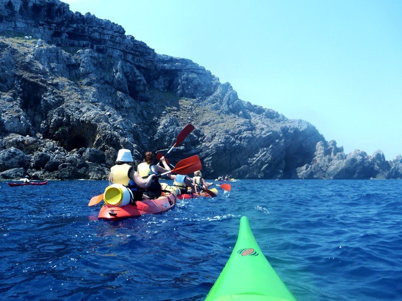 Fun on the sea with kayaks