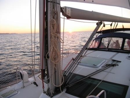 Sailing day sunset