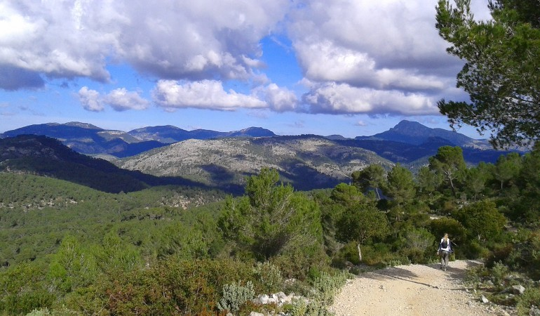 Scenary of the hiking tour in Palma de Mallorca