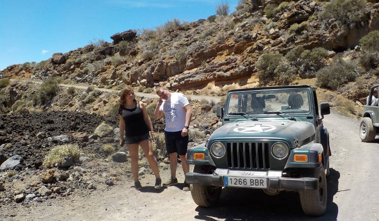Jeep experience to Teide