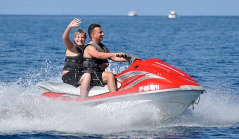 This jetski fits two!
