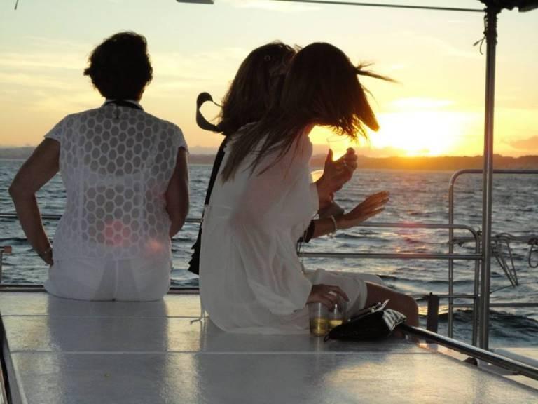Catamaran sailing afternoon