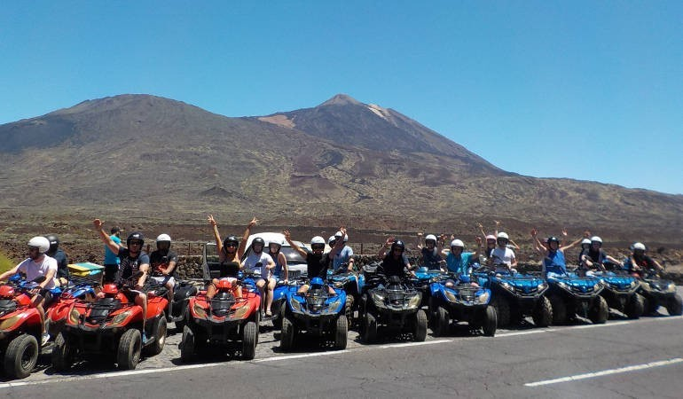 Group with Teide in the background