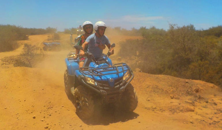 Offroad fun on a quad