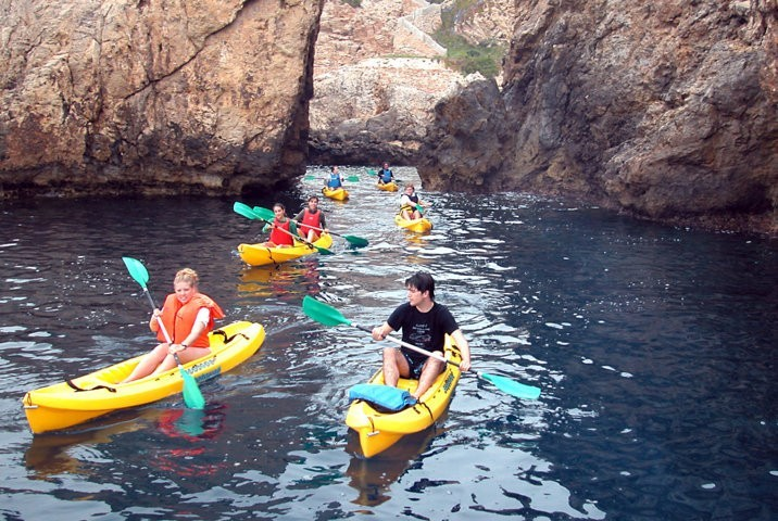 Kayak excursion - fun with friends
