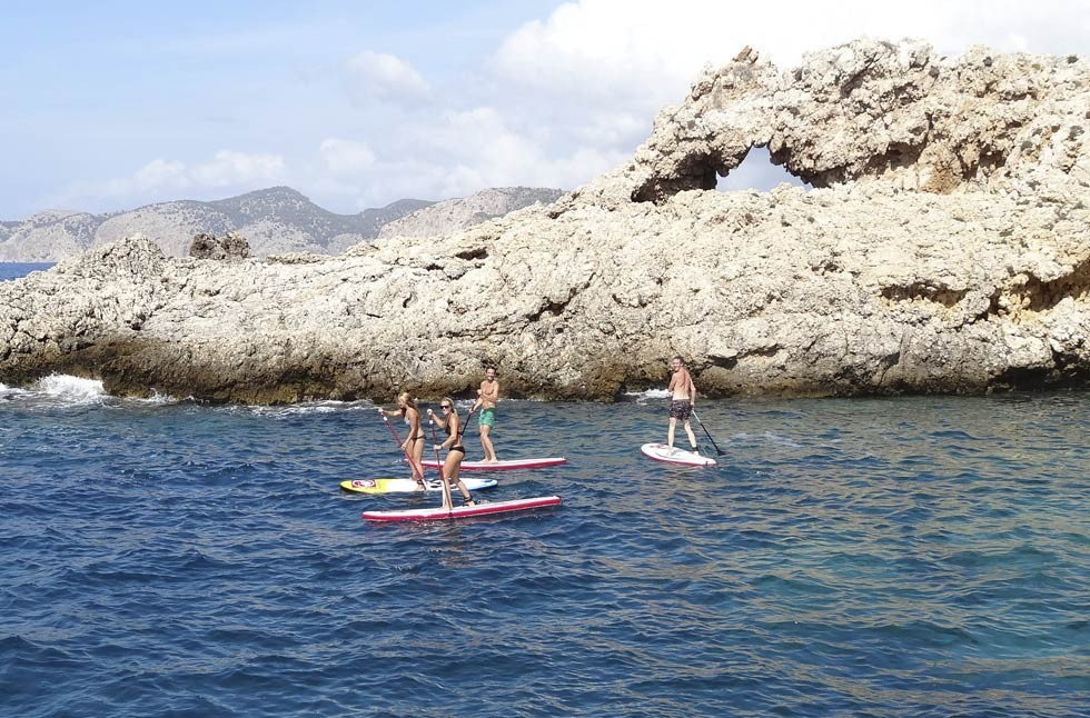 Rent a paddle surf board in Majorca