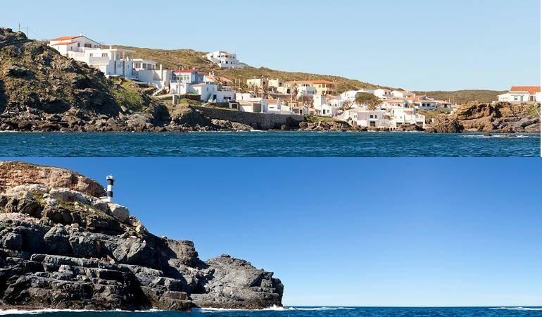 The coastline of he island