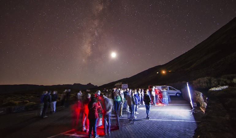 Astronomical experience Teide volcano