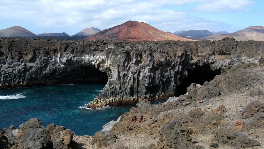 Wild cliffs in Lanzarote
