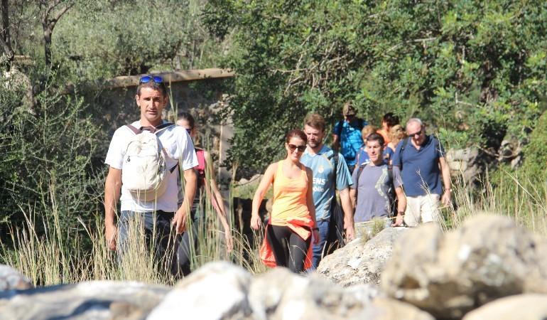 Starting the trekking tour in Mallorca