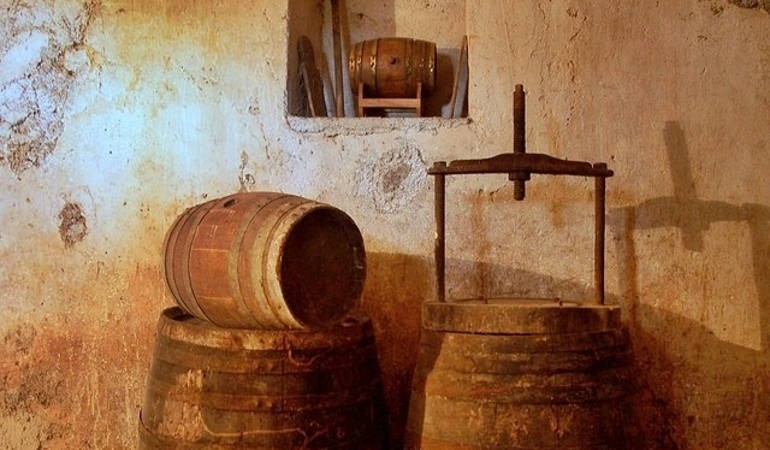 Wine press from the old days