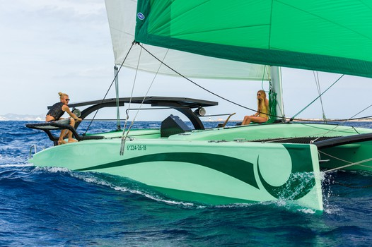 Big charter groups trip on Ecological Catamarans in Sant Antonio, Ibiza
