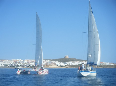 sailing all