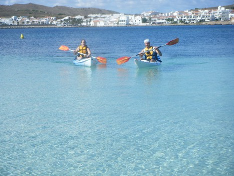 turquise water in kayak