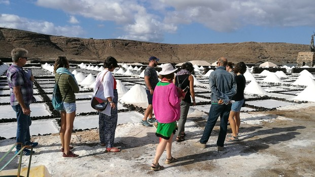 Our clients visiting to the salt flats