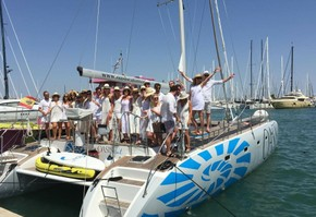Day trip catamaran exclusively in the Bay of Palma de Mallorca