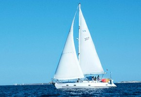 Sailing day trip to Formentera Island in exclusive