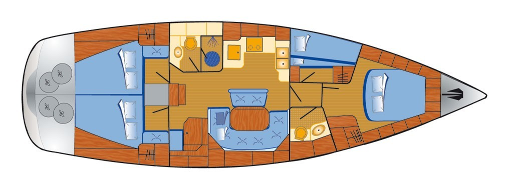 Bavaria 46 cruiser layout