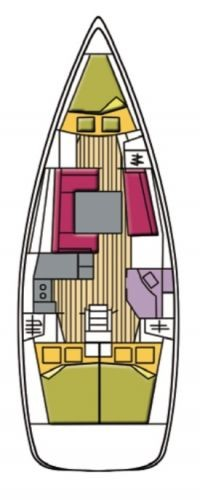 Layout Beneteau Oceanis 37 Polaris