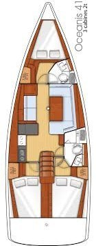 Layout Beneteau Oceanis 41 Sea Lion