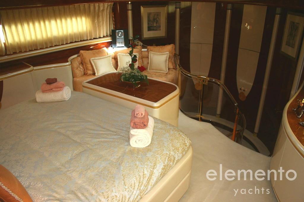 Yachtcharter auf Mallorca: Elegance 95 schöne VIP Kabine.