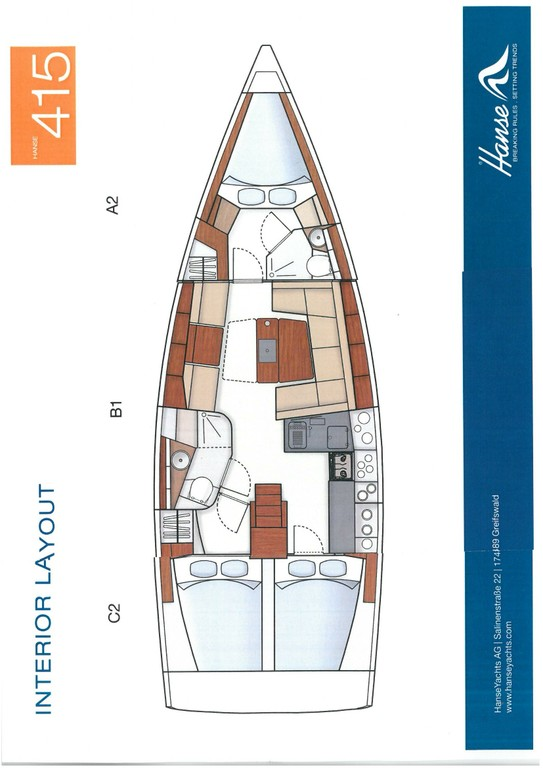 Layout Hanse 415 Marine Spirit Two