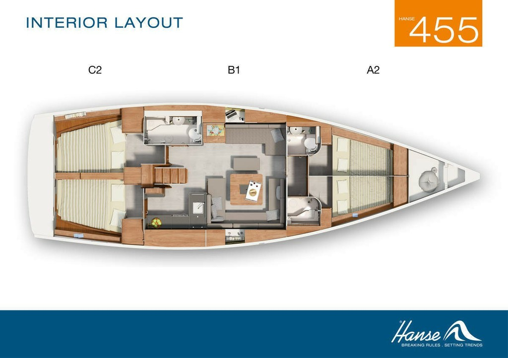 Layout Hanse 455 Marine Spirit Three