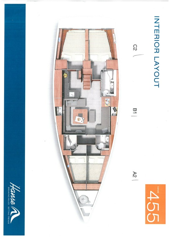 Layout Hanse 455 Marine Spirit Four