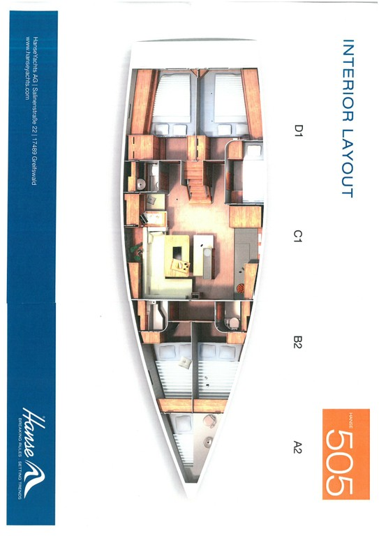 Layout Hanse 505 Marina estrella Three