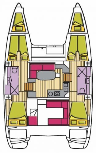 Layout Lagoon Lagoon 400S2 Atlante