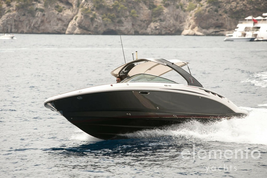 Yacht Charter in Majorca: Palmer Johnson 120 optional tender cruising.