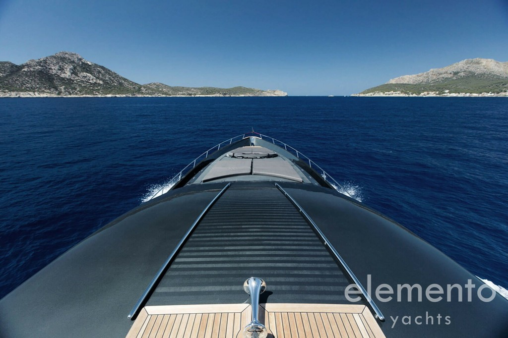 Yacht Charter in Majorca: Palmer Johnson 120 panoramic view from the flybridge.