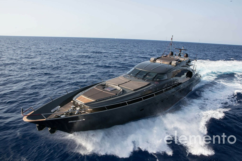 Yacht Charter in Majorca: Palmer Johnson 120 cruising.